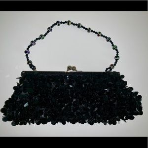Black Sequined Handbag
